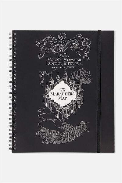 College Ruled Spinout Notebook V, LCN HP MARAUDERS MAP