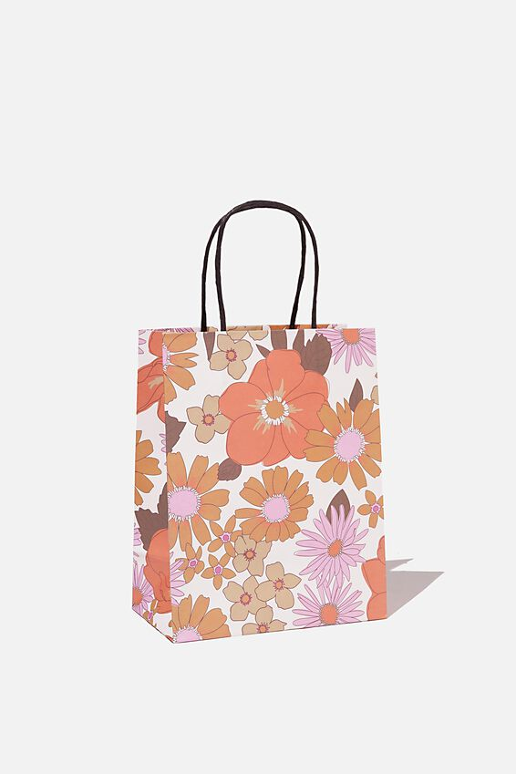 Get Stuffed Gift Bag - Small, PINK ORANGE STEVIE FLORAL