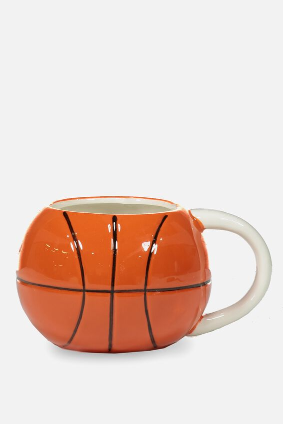 Novelty Shaped Mug, BASKETBALL