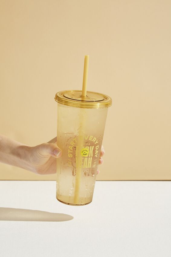 Sipper Smoothie Cup, F YEAH WASHED MUSTARD!!