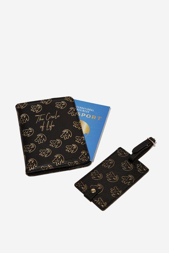 Lion King Passport Holder & Luggage Tag Set, LCN DIS CIRCLE OF LIFE