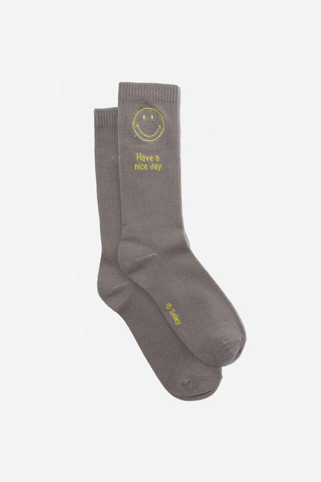 Smiley Socks, LCN SMI SMILEY GREY