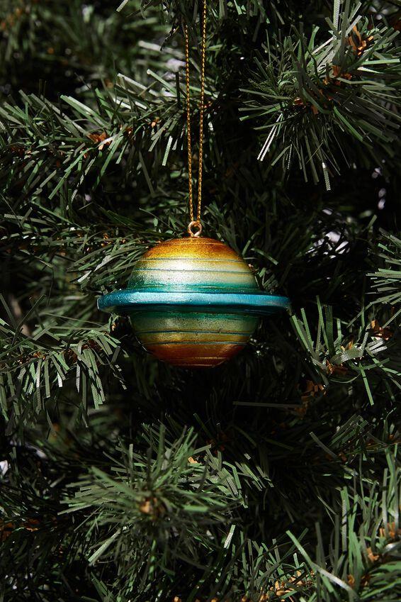 Resin Christmas Ornament, PLANET