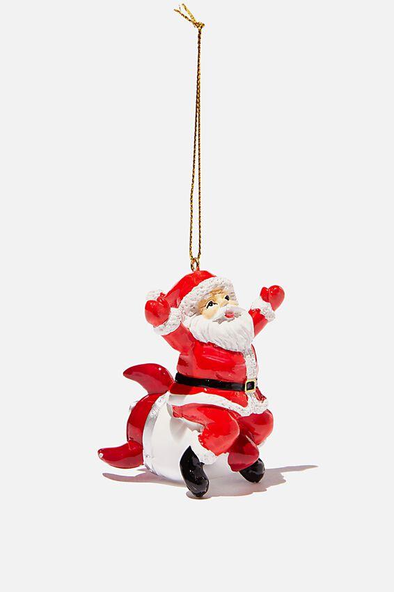 Resin Christmas Ornament, ROCKET SANTA