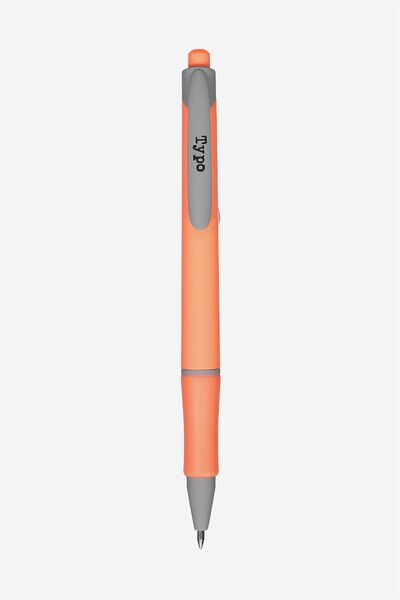Say It Write Gel Pen, CORAL AND GREY