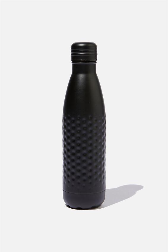 Premium Metal Drink Bottle, MATTE BLACK HAMMERED