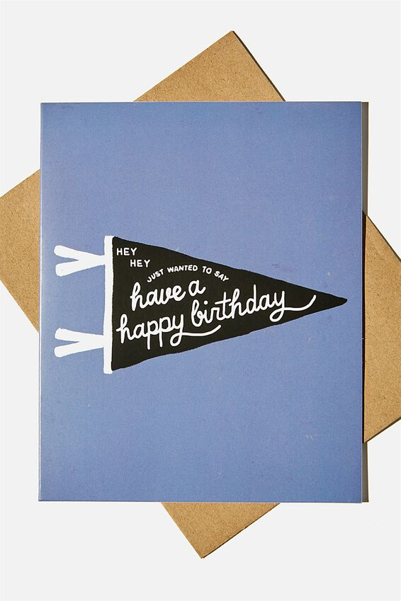 Nice Birthday Card, BIRTHDAY PENNANT FLAG