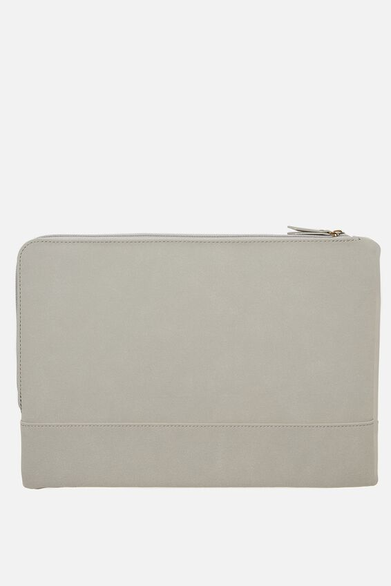 Oxford 13 Inch Laptop Case, CHERRY BLOSSOM COOL GREY WITH COOL GREY SUEDE