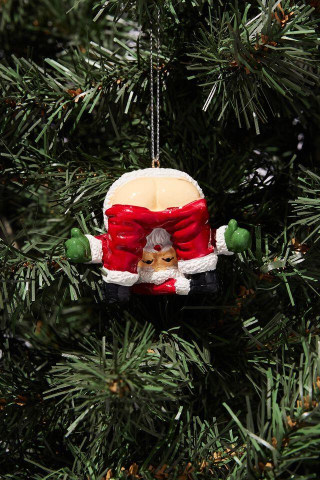Resin Christmas Ornament, SANTA BUM LEGS