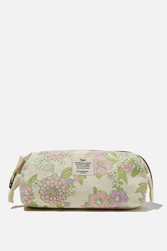 Billie Pencil Case, MINT PINK MOLLY FLORAL