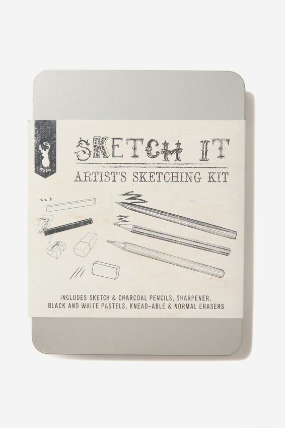 Sketch It Tin, GREY & BLACK
