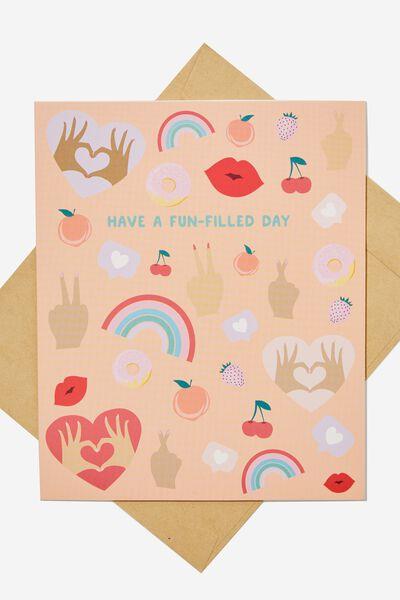 Nice Birthday Card, FUN ICONS