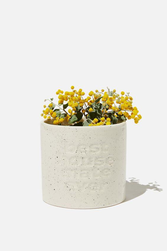 Midi Shaped Planter, WHITE SPECKLE HOUSEMATE