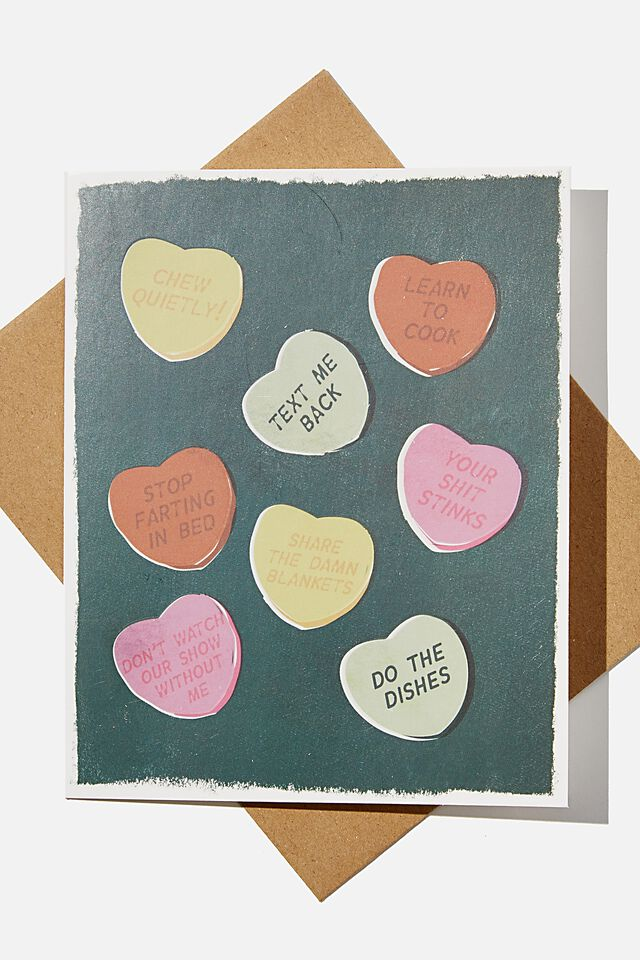 Premium Love Card, SCENTED CANDY HEARTS!