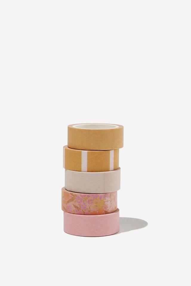 Washi Tape 5Pk, SAND GOLDIE FLORAL