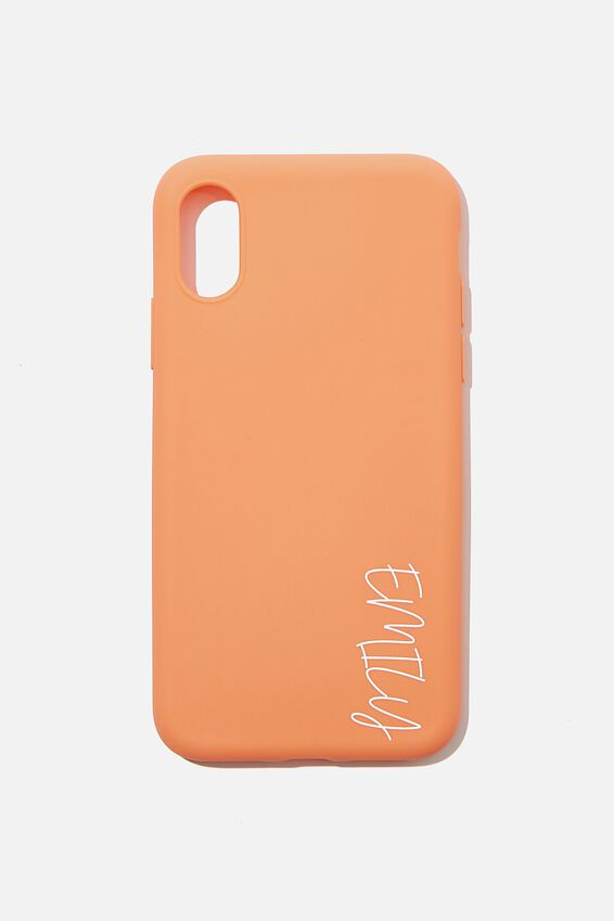 Personalised Recycled X, Xs Case, PEACH