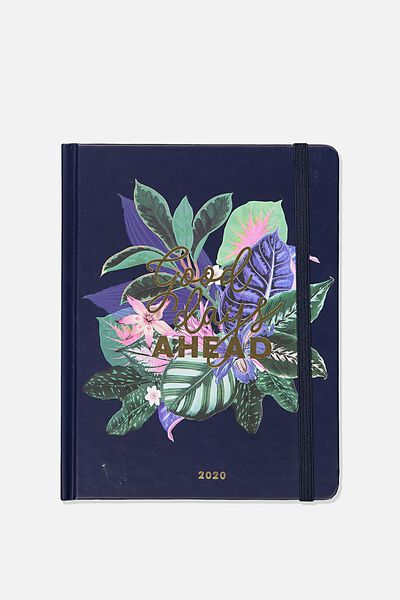 2020 Essential Diary, NAVY FLORAL