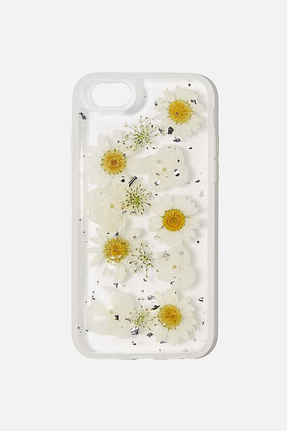 Snap On Protective Phone Case SE, 6, 7, 8, TRAPPED DAISY