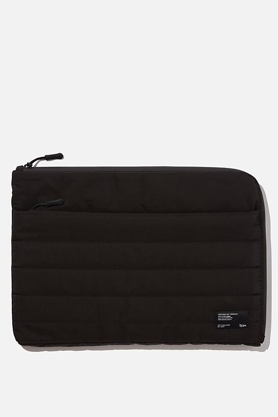 Utility Recycled 13 Inch Laptop Case, BLACK & GREY
