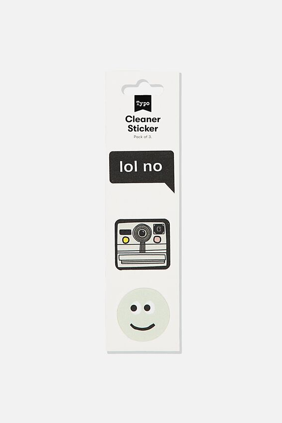 Cleaner Sticker, SMILEY