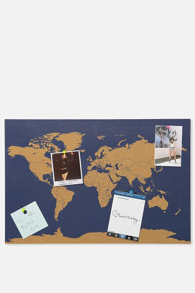 Decor what a corker cork board navy map gumiabroncs Gallery