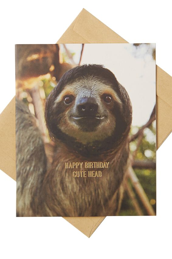 Nice Birthday Card, CUTE HEAD