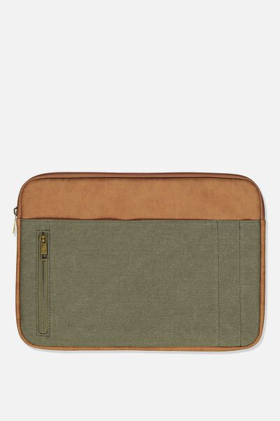 Take Charge Laptop Cover 13 inch, WASHED KHAKI W MID TAN