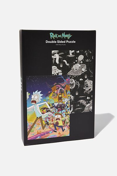 1000 Piece Double Sided Puzzle, LCN CNW RM RICK AND MORTY