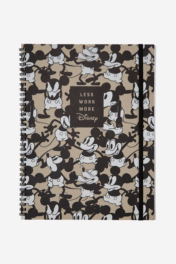 A4 Spinout Notebook - 120 Pages, LCN DIS MICKEY LESS WORK
