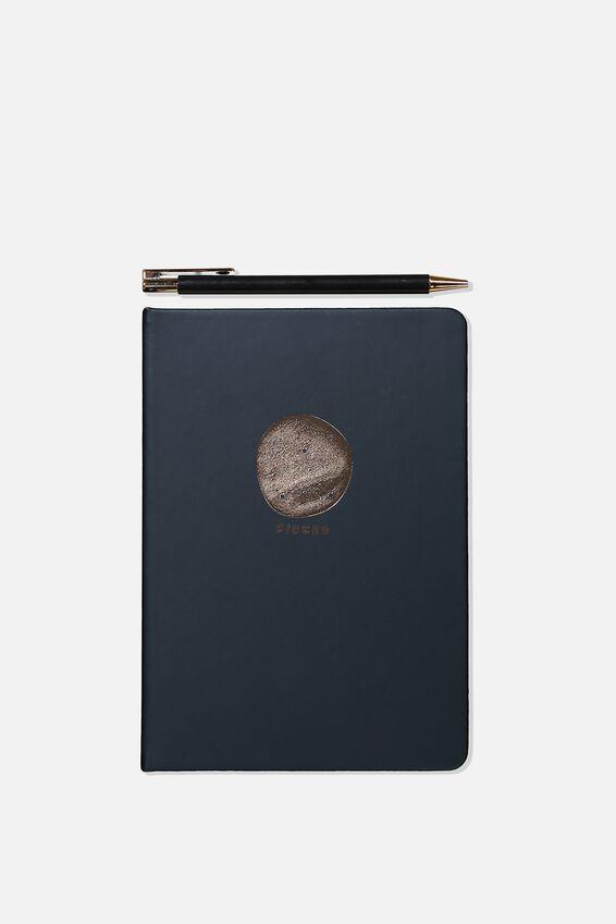 Notebook And Pen Set, ZODIAC PISCES