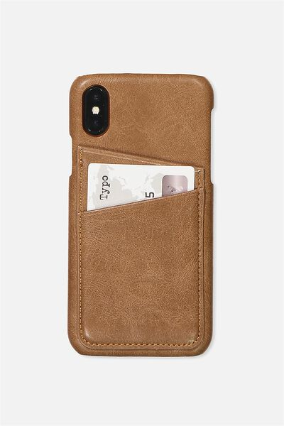 The Phone Cardholder  X, TAN PU