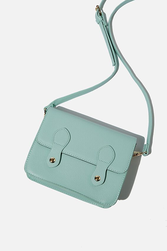 Mini Buffalo Satchel Bag, SOFT MOSS
