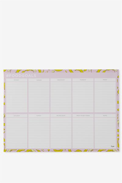 A3 Magnetic Planner, PINK BANANAS