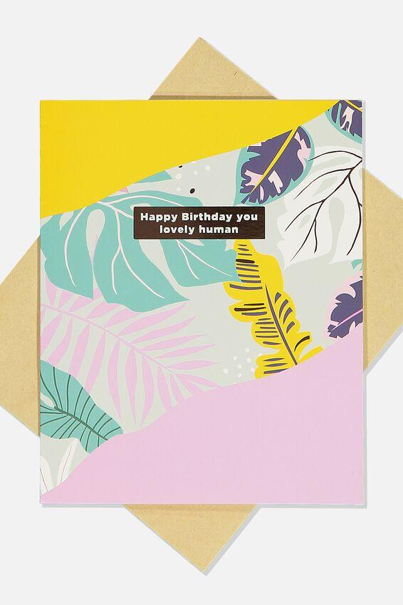 Nice Birthday Card, AMAZING HUMAN MULTI PLANTS