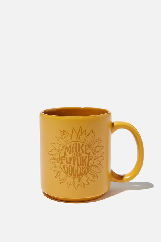 Daily Mug, MUSTARD SUNFLOWER