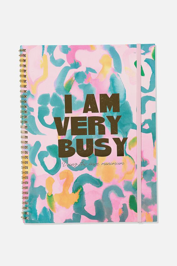 A4 Spinout Notebook Recycled, I AM VERY BUSY