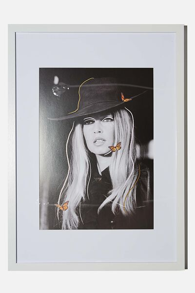 A3 Framed Print, LCN ICO TERRY ONEILL BB BUTTERFLY
