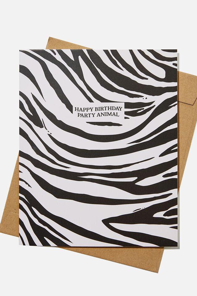 Nice Birthday Card, RG SAF ZEBRA STRIPES