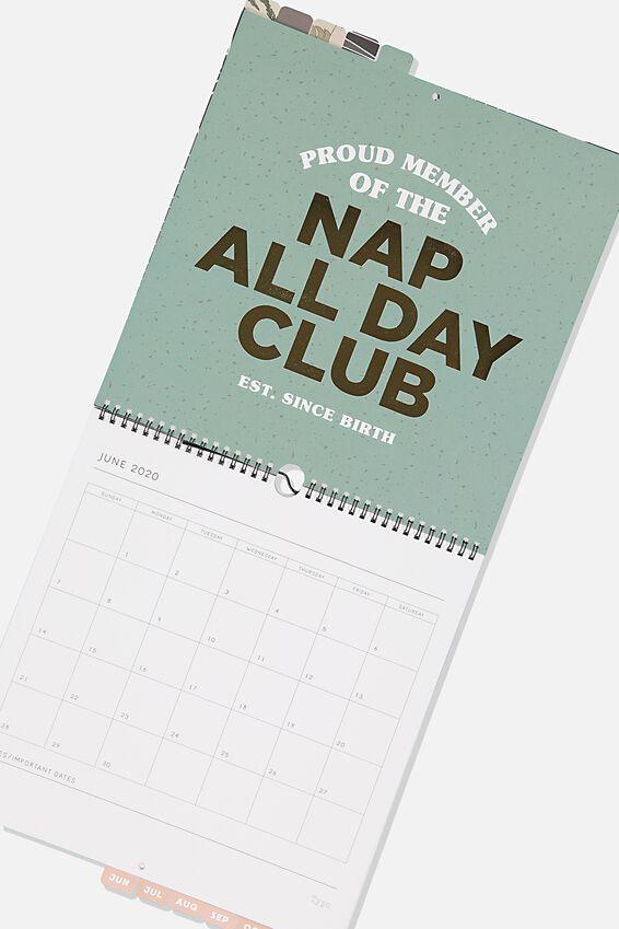 2020 Hot Date Calendar, SLOTH