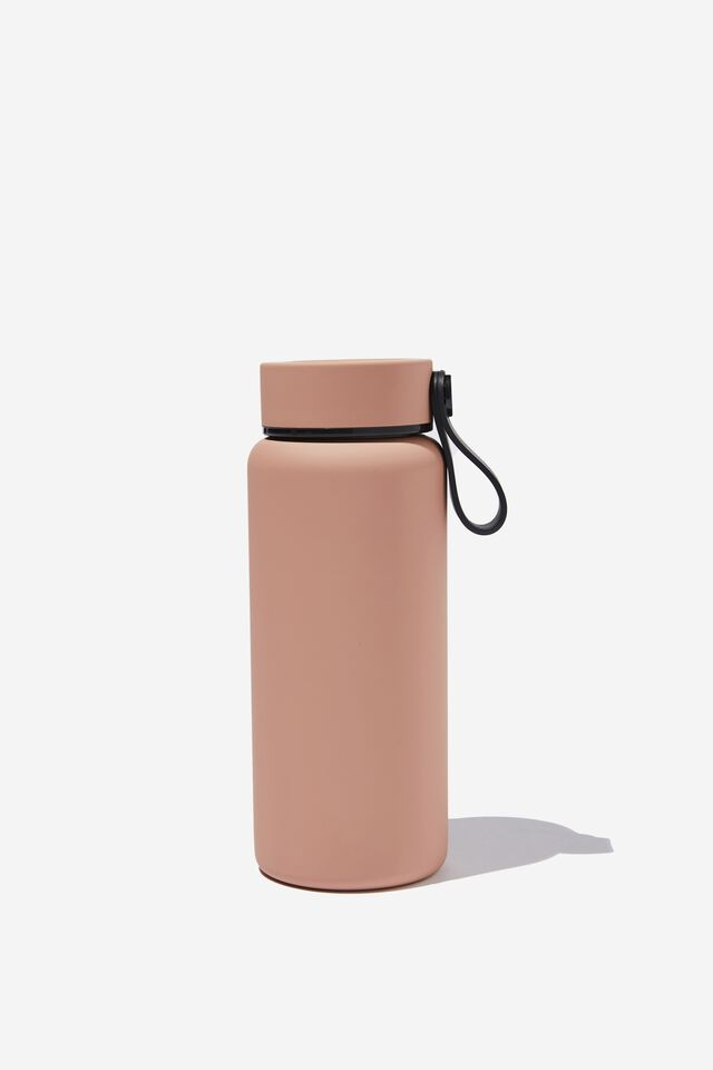On The Move Metal Drink Bottle 350Ml, CLAY