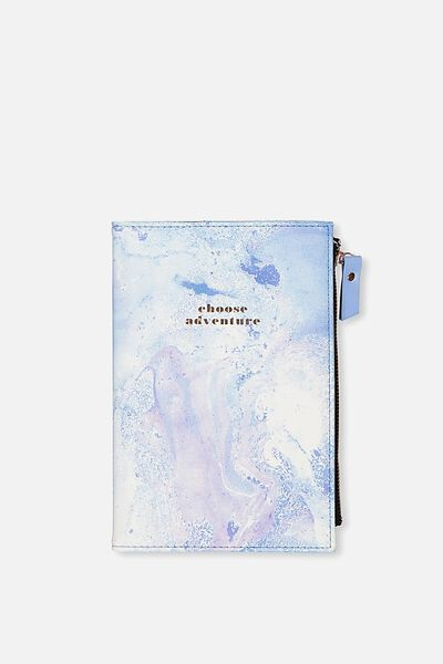 Travel Zip Journal, BLUE MARBLE