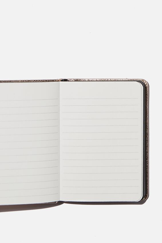 A6 Buffalo Dot Journal, ROSE GOLD