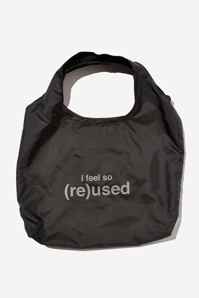 Foldable Shopper Tote Bag, FEEL SO REUSED