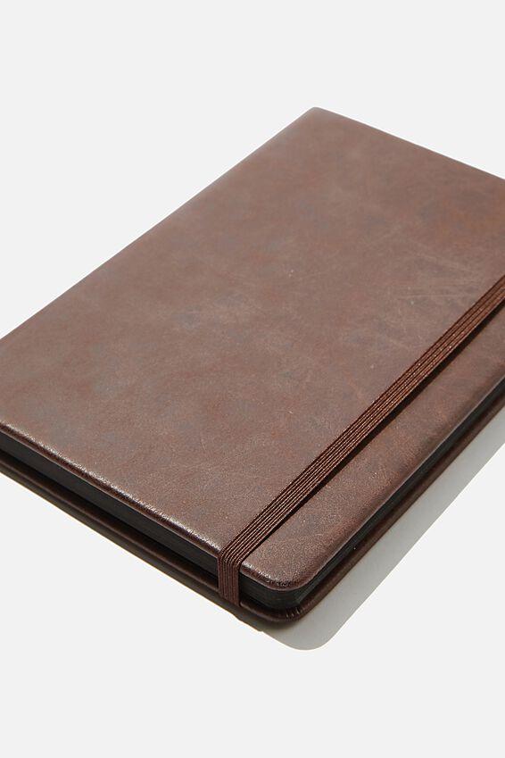 "A5 Blank Buffalo Journal (5.8"" x 8.2""), RICH TAN"
