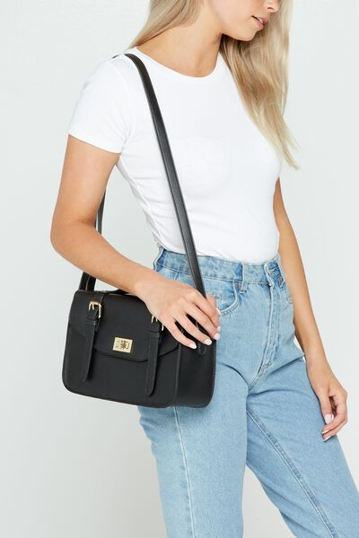 Verona Satchel, BLACK