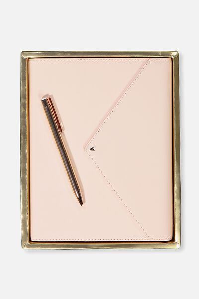 Magnetic Close Journal & Pen, PINK FLORAL