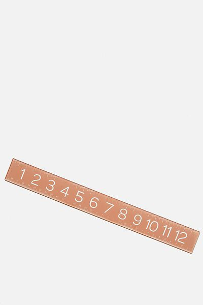Thick Acrylic Ruler, PINK
