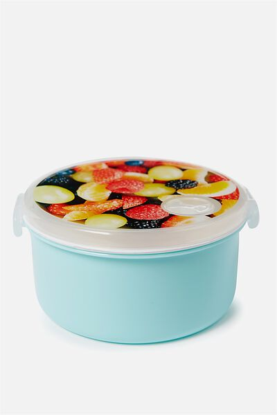 Round Lunch Container, FRUIT SALAD