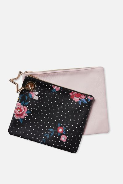 Duo Bag Set, BLACK DOTTY FLORAL