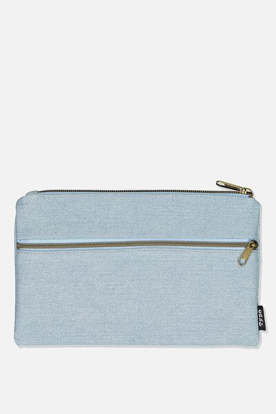 Archer Pencil Case, CHAMBRAY
